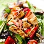Strawberry Balsamic Chicken Salad Wrap