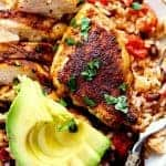 One Pan Southwest Blackened Cajun Chicken with Rice
