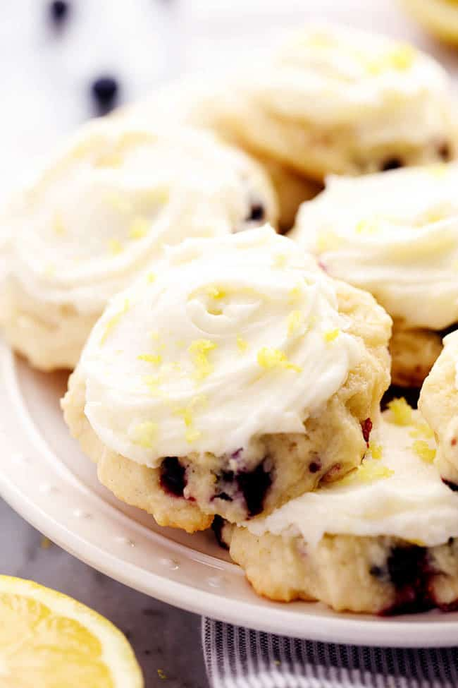 Blueberry Yogurt Cookies With Lemon Cream Cheese Frosting Recipes ...
