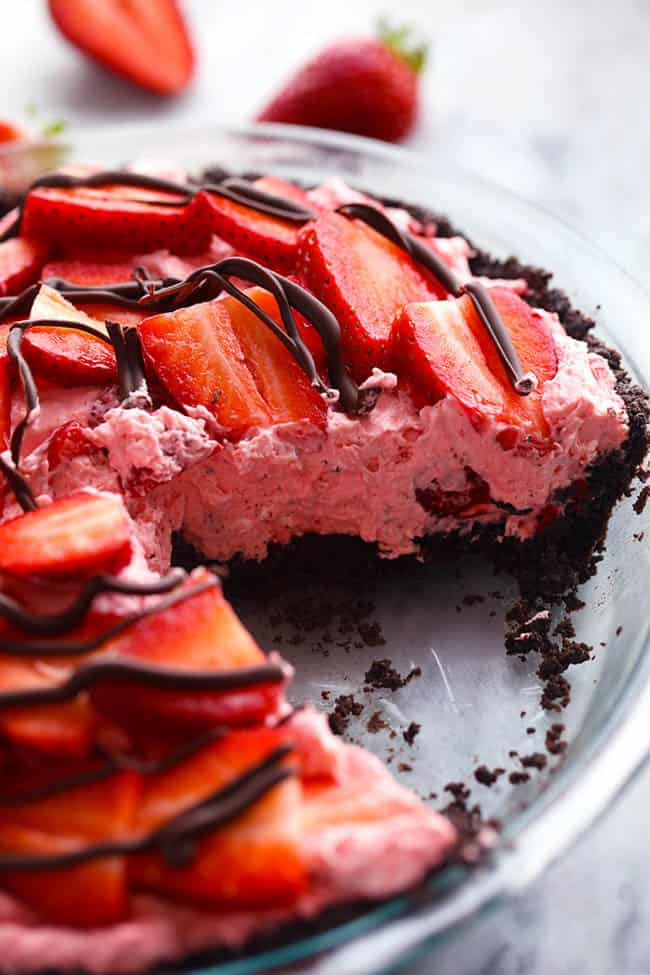 No Bake Chocolate Strawberries And Cream Pie The Recipe