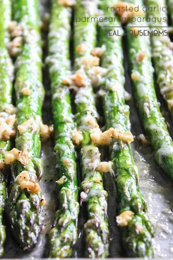 Roasted Parmesan Garlic Asparagus