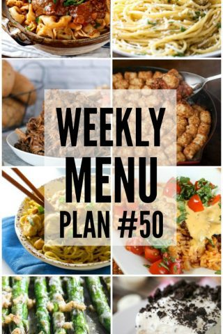 Weekly Menu Plan #50