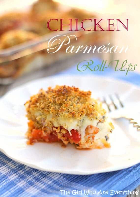 Chicken Parmesan Roll-ups