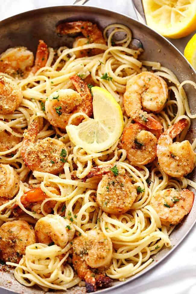 Easy Shrimp Scampi Recipe (w/ Lemon & Garlic)
