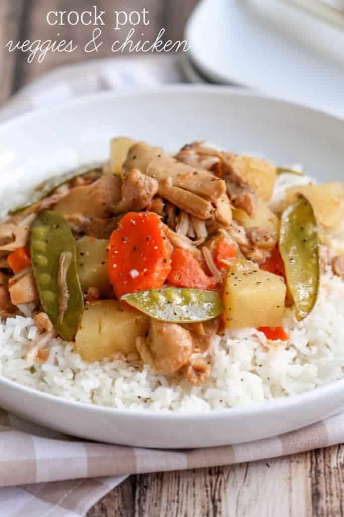 Crock Pot Veggies & Chicken