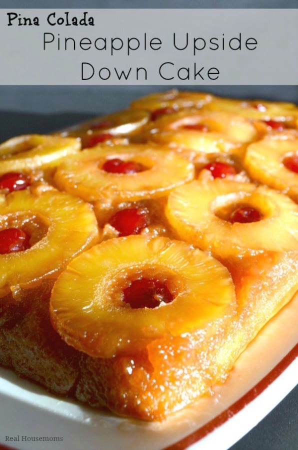 Pina Colada Upside Down Cake - Real Housemoms