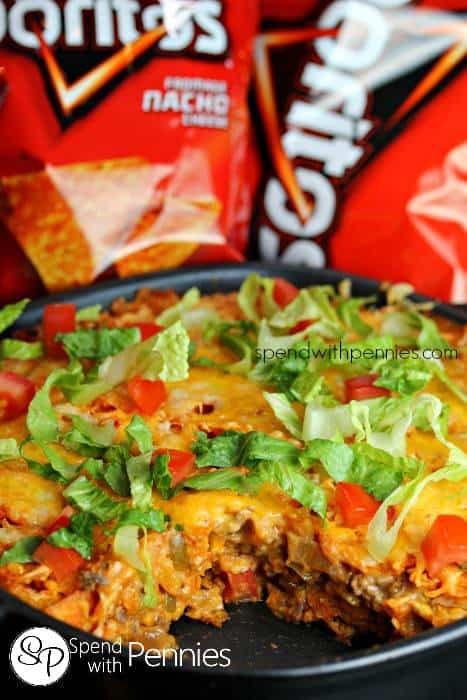 Layered Doritos Casserole