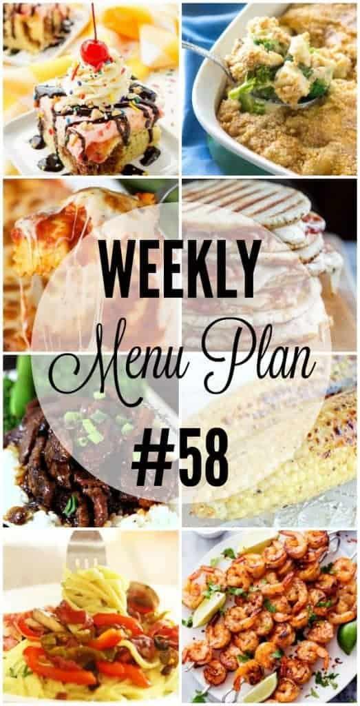 Weekly Menu Plan #58