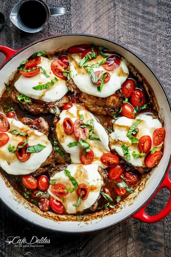 Balsamic Glazed Caprese Chicken