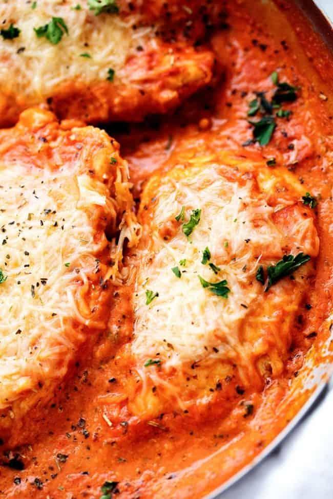 Creamy Tomato Italian Parmesan Chicken | The Recipe Critic