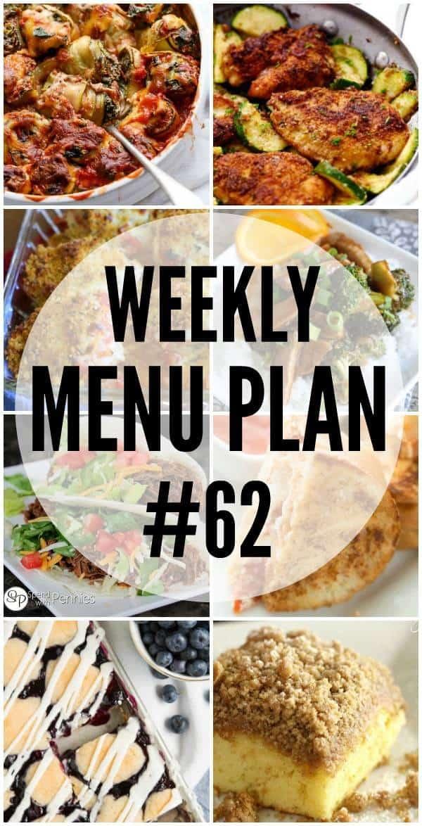 Collage Weekly Menu Plan #62