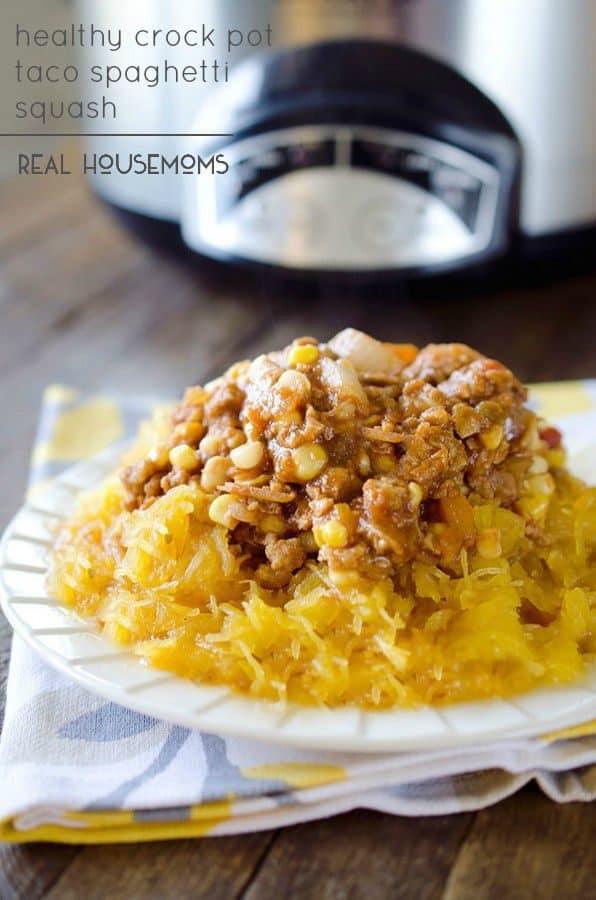Healthy Crock Pot Taco Spaghetti Squash - Real Housemoms