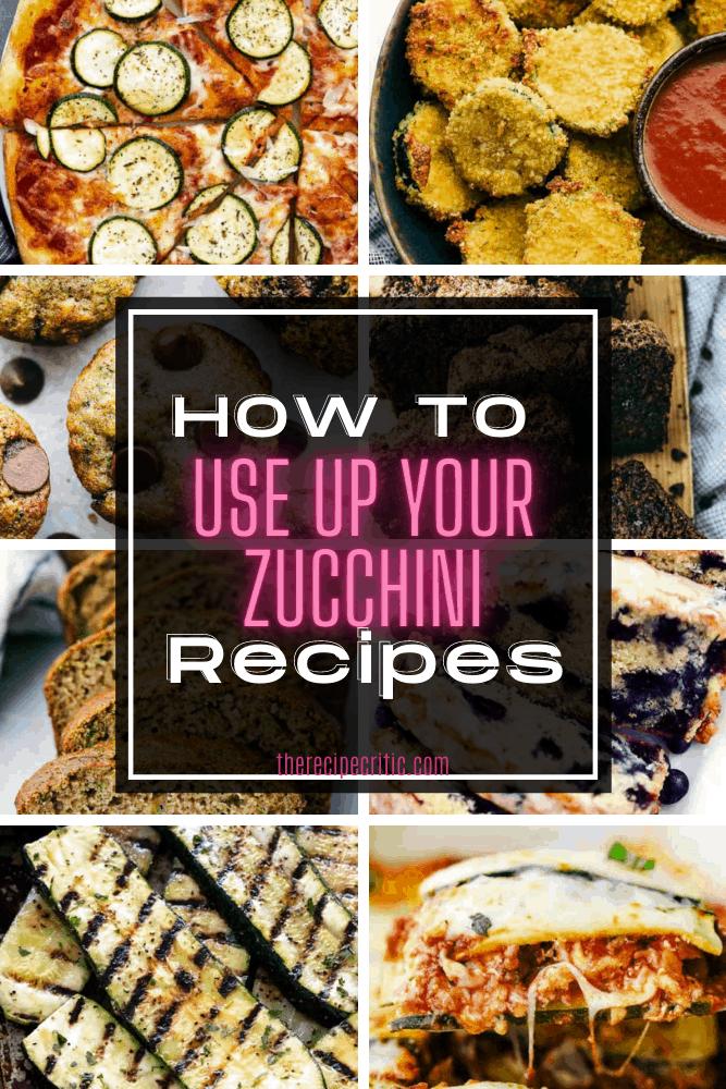 Round up photos of zucchini.