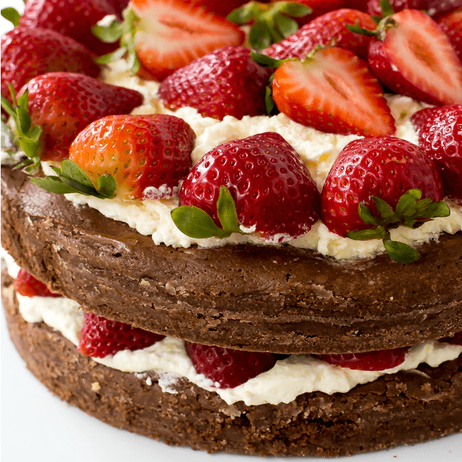 Brownie Strawberry Shortcake | The Recipe Critic