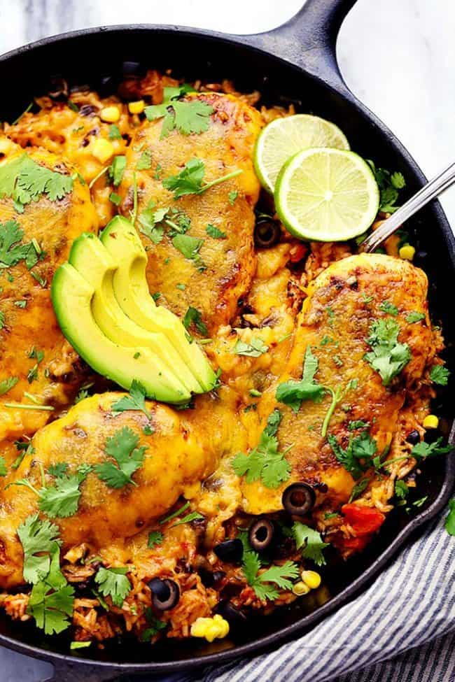 Romano Ranch Chicken And Rice Skillet Dinner Recipe — Dishmaps