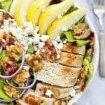 Grilled Chicken, Bacon, and Pear Salad with Poppyseed Dressing