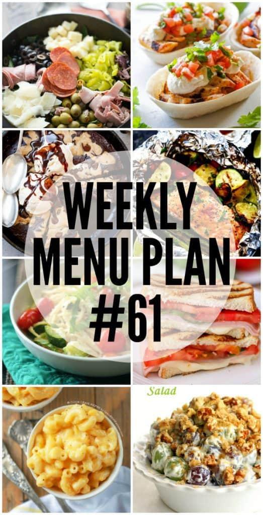 Weekly Menu Plan #61