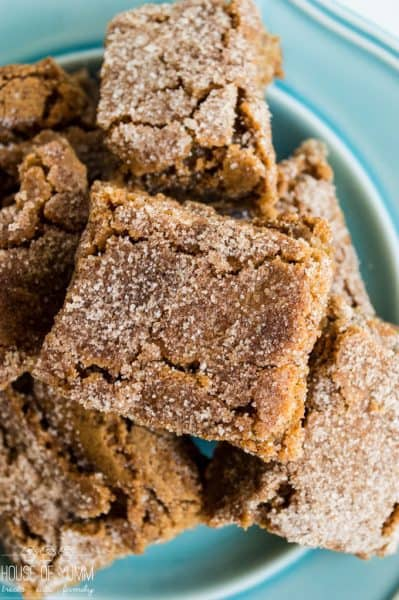 Cinnamon Blondies by House of Yumm