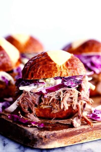 Slow Cooker Sweet Carolina Pulled Pork Sliders