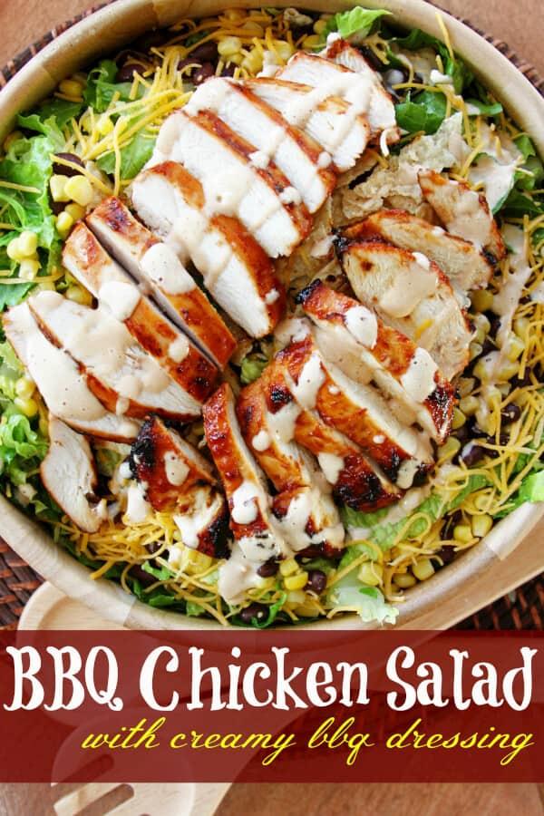 BBQ Chicken Salad with Creamy BBQ Dressing