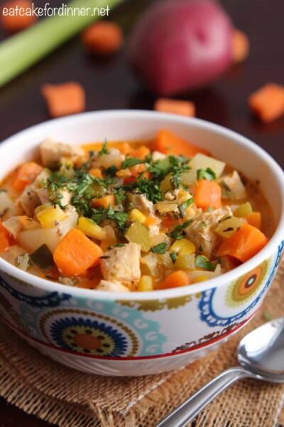 Chicken, Corn and Sweet Potato Casserole
