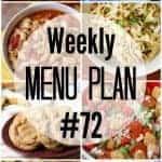 Weekly Menu Plan #71
