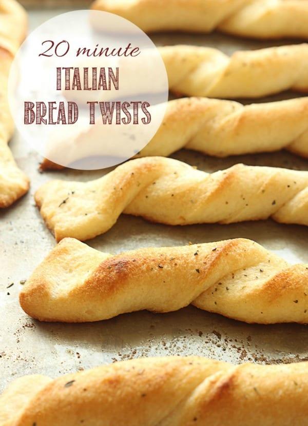 20 Minute Italian Bread Twists