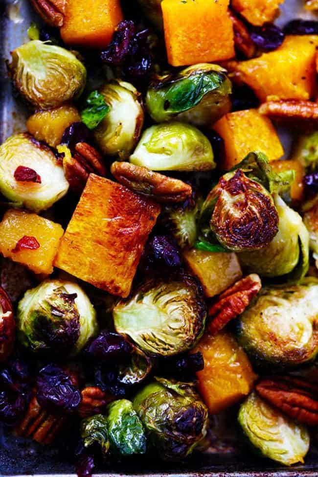 Maple Roasted Brussels Spouts and Butternut Squash 2