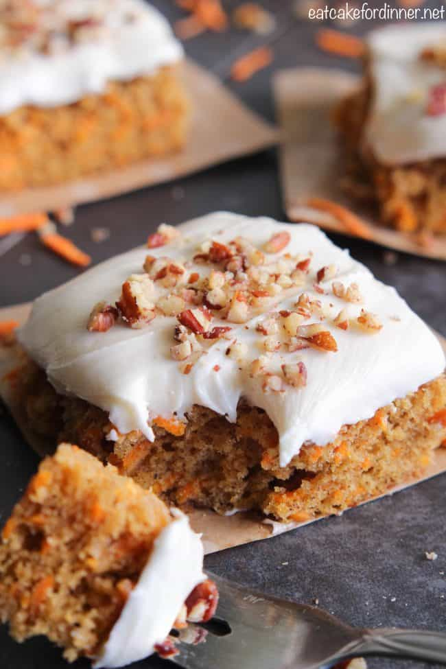 Sweet Potato Cake with Marshmallow Frosting