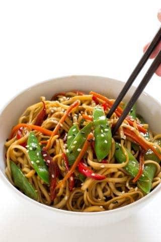 20 Minute Vegetable Lo Mein