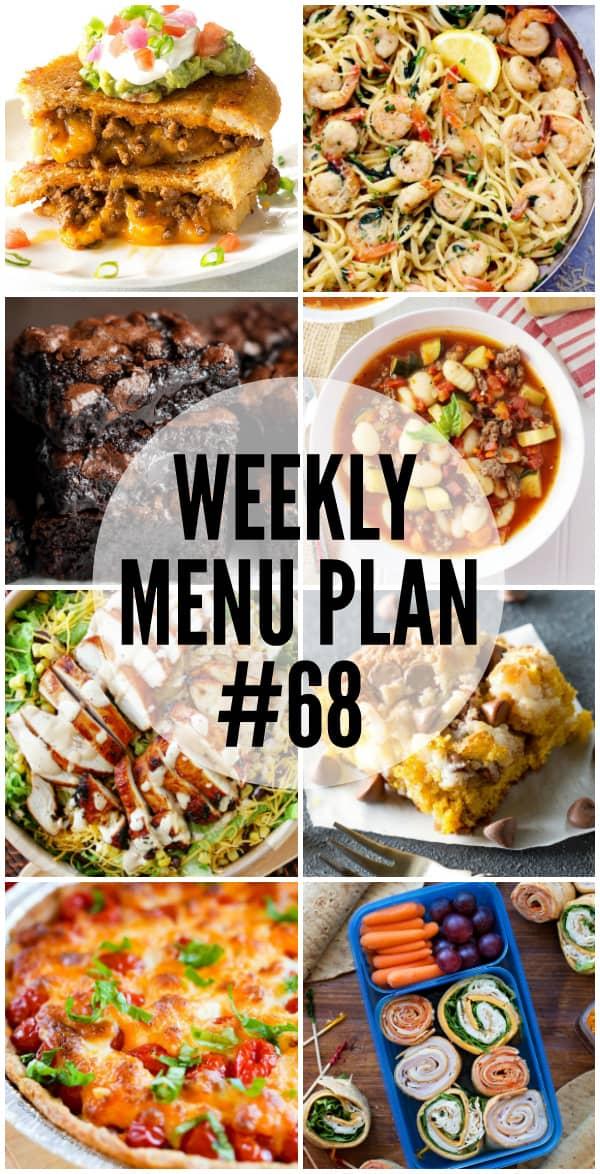 Weekly Menu Plan #68