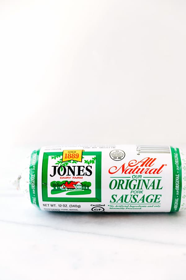 All natural original pork sausage by Jones dairy farms.