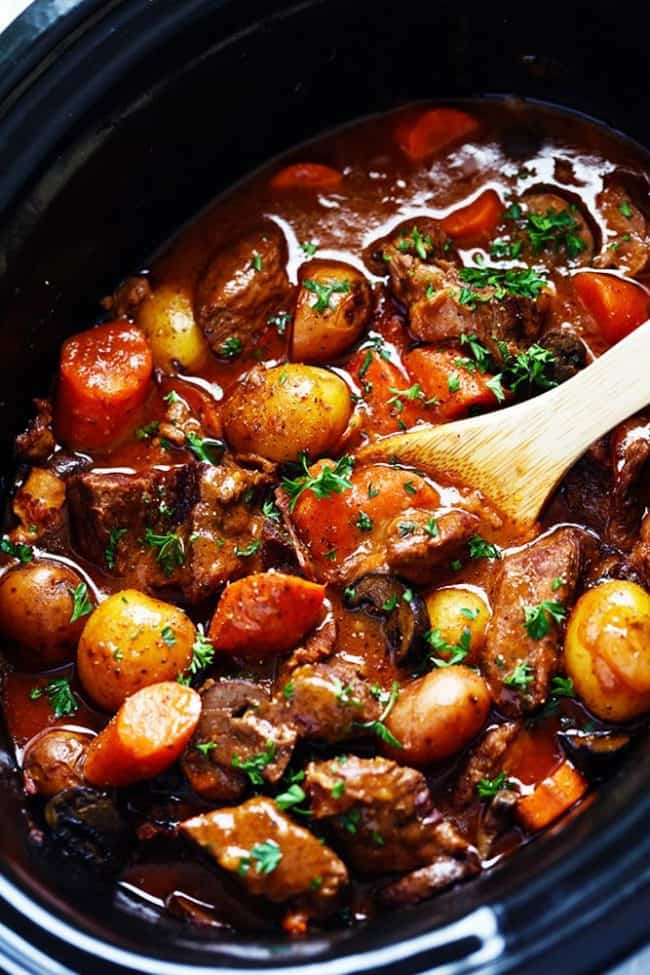 Slow Cooker Beef Bourguignon The Recipe Critic