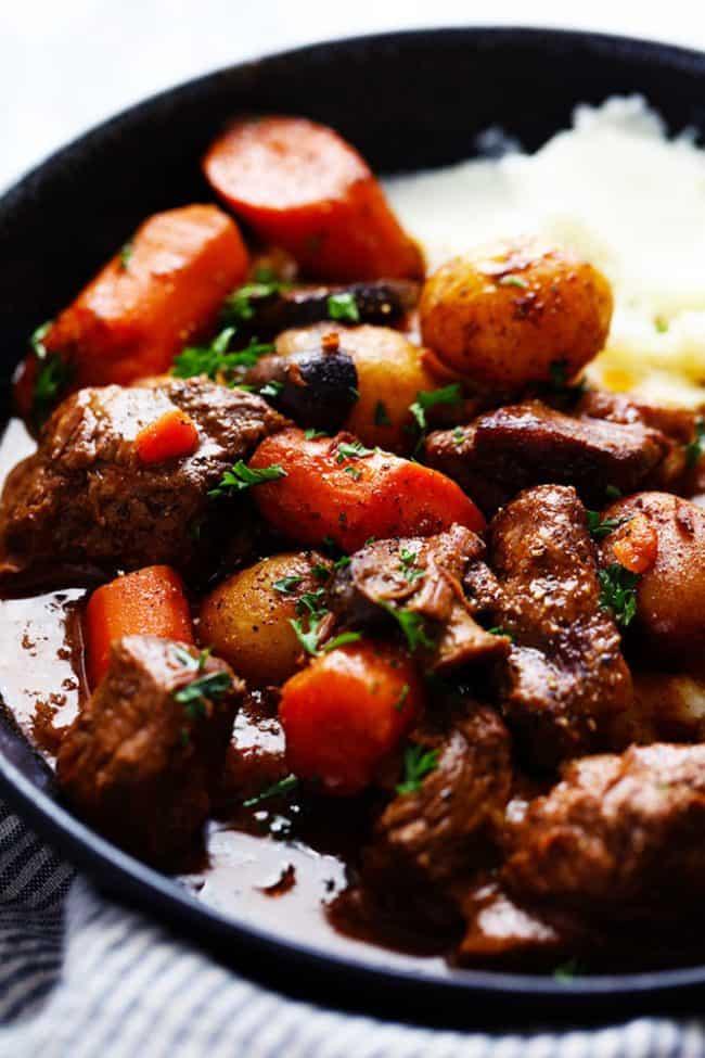 Slow Cooker Beef Bourguignon The Recipe Critic