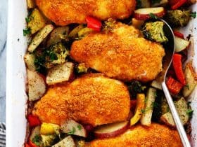 crispypaprikaparmesanchickenwithveggies