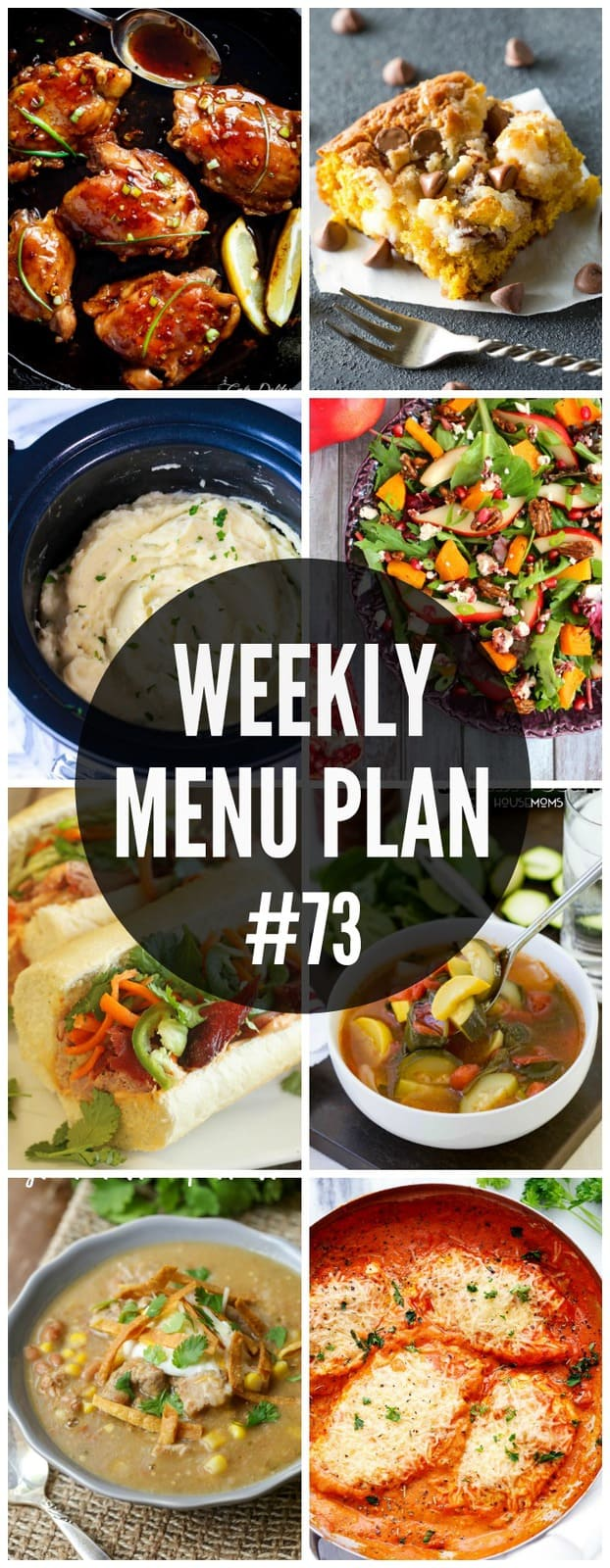 A delicious collection of dinner, side dish and dessert recipes to help you plan your weekly menu.