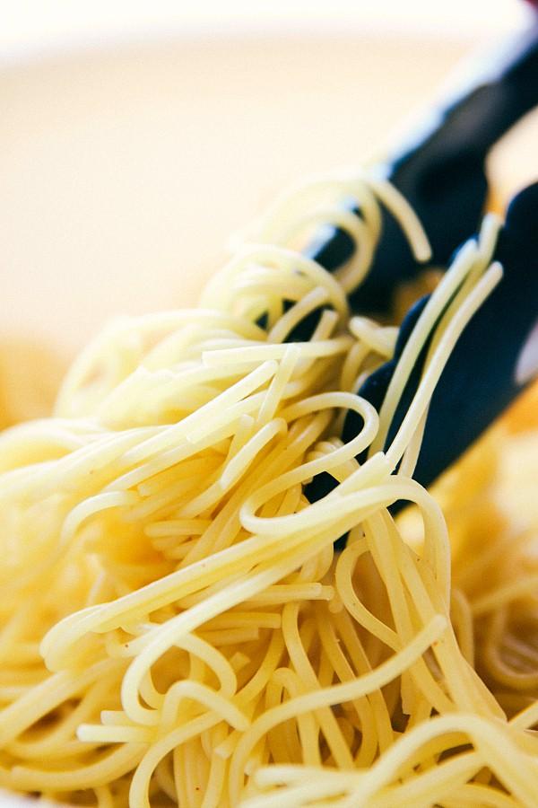 Healthy Lemon Parmesan Sardine Pasta