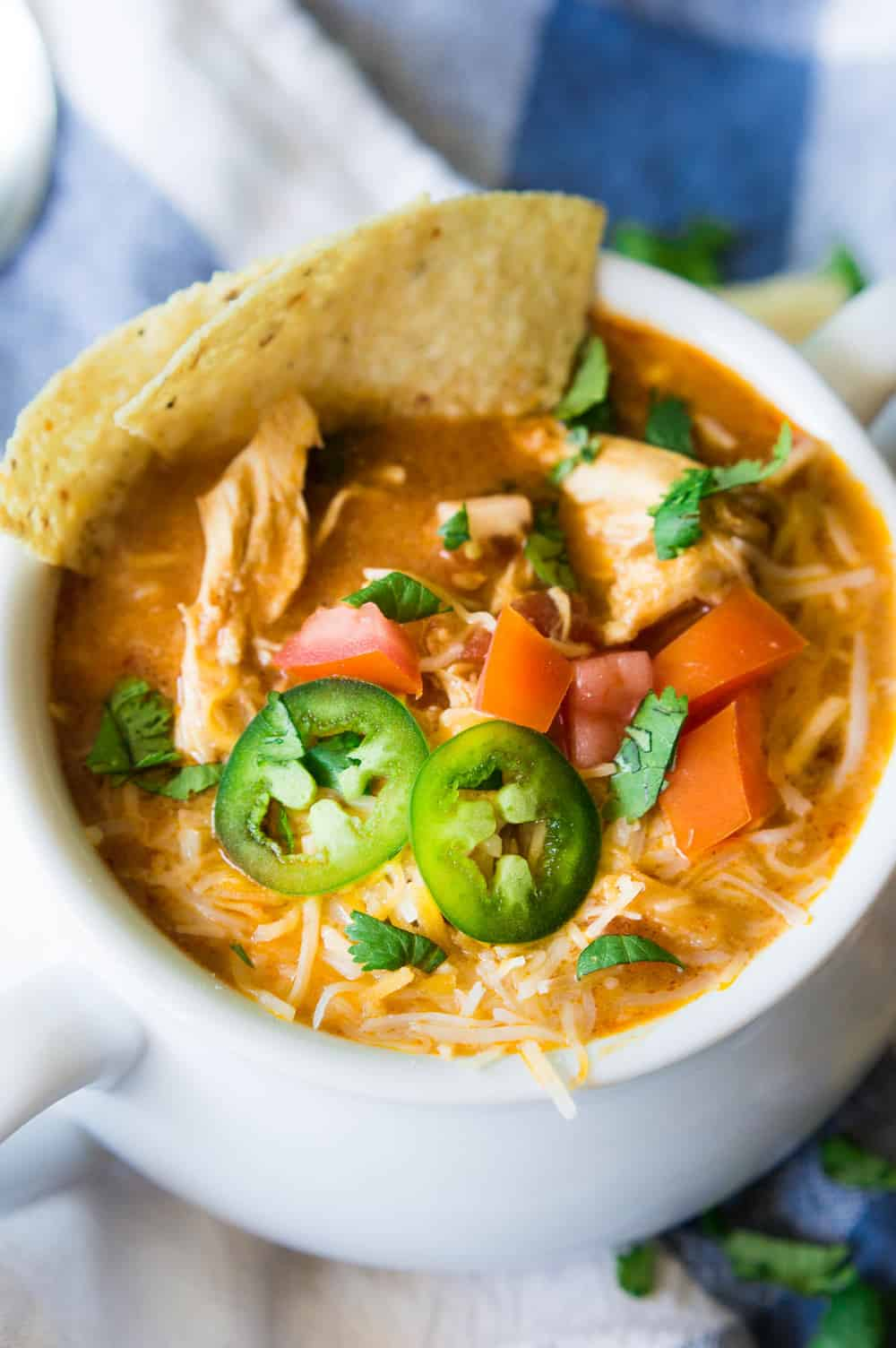 Slow Cooker King Ranch Chicken Soup