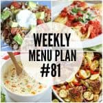 Weekly Menu Plan #81