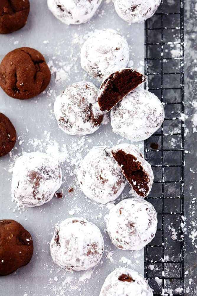 Chocolate Snowball Cookies 3