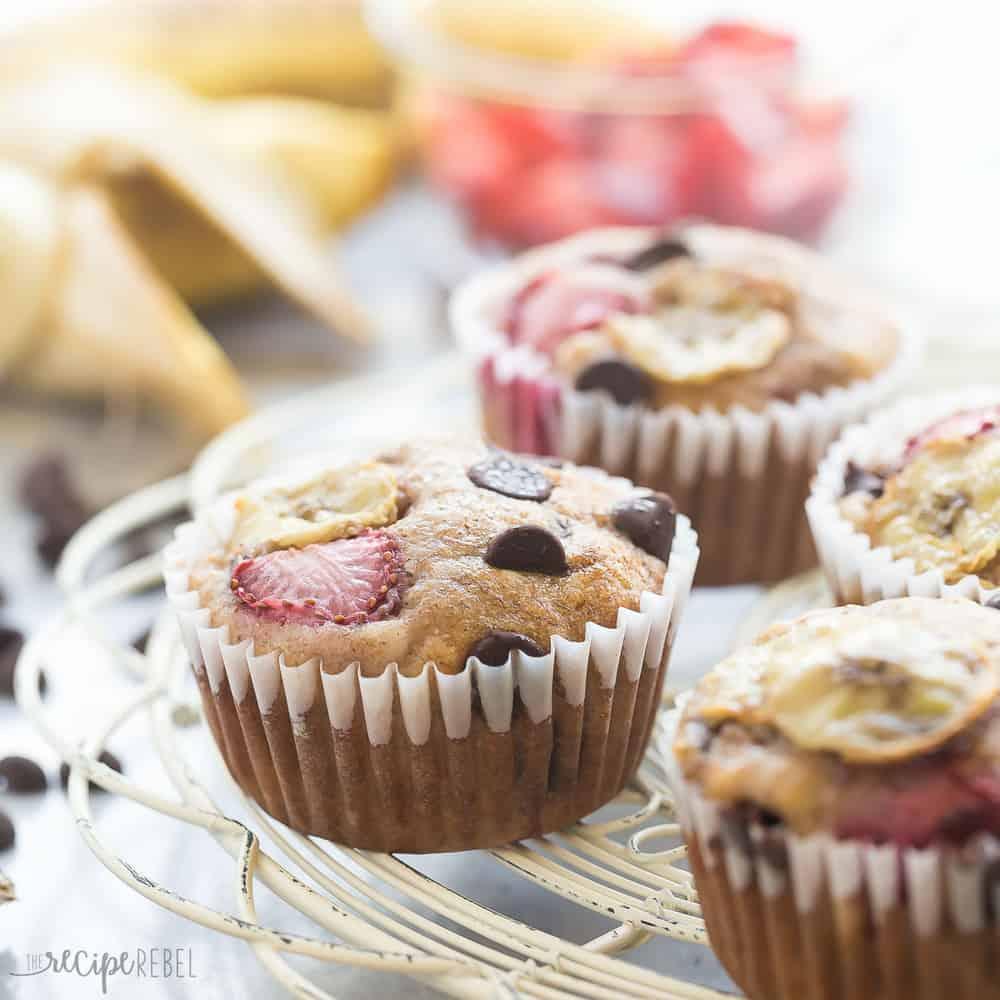 strawberry-chocolate-chip-banana-muffins-www-thereciperebel-com-1-of-3