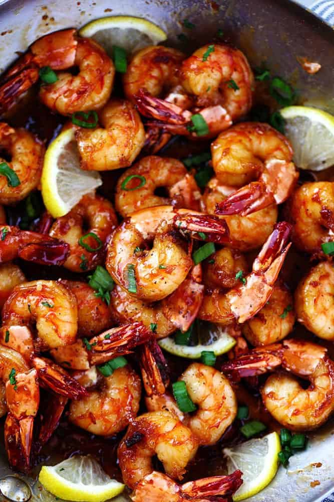 Sticky Honey Garlic Butter Shrimp 2