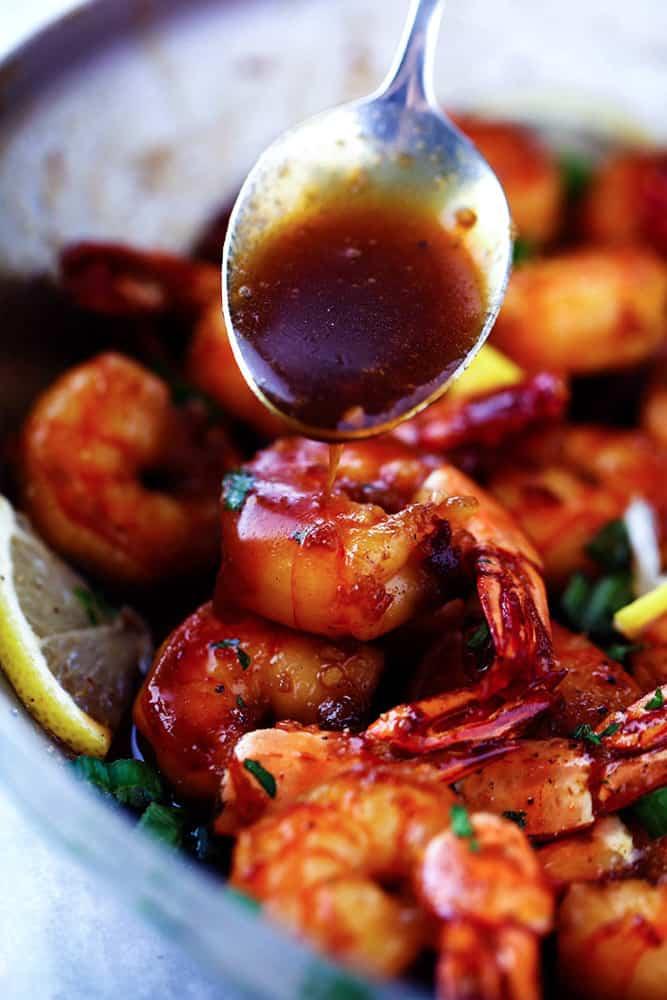 Sticky Honey Garlic Butter Shrimp The Recipe Critic