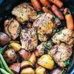 Slow Cooker Brown Sugar Balsamic Chicken and Vegetables