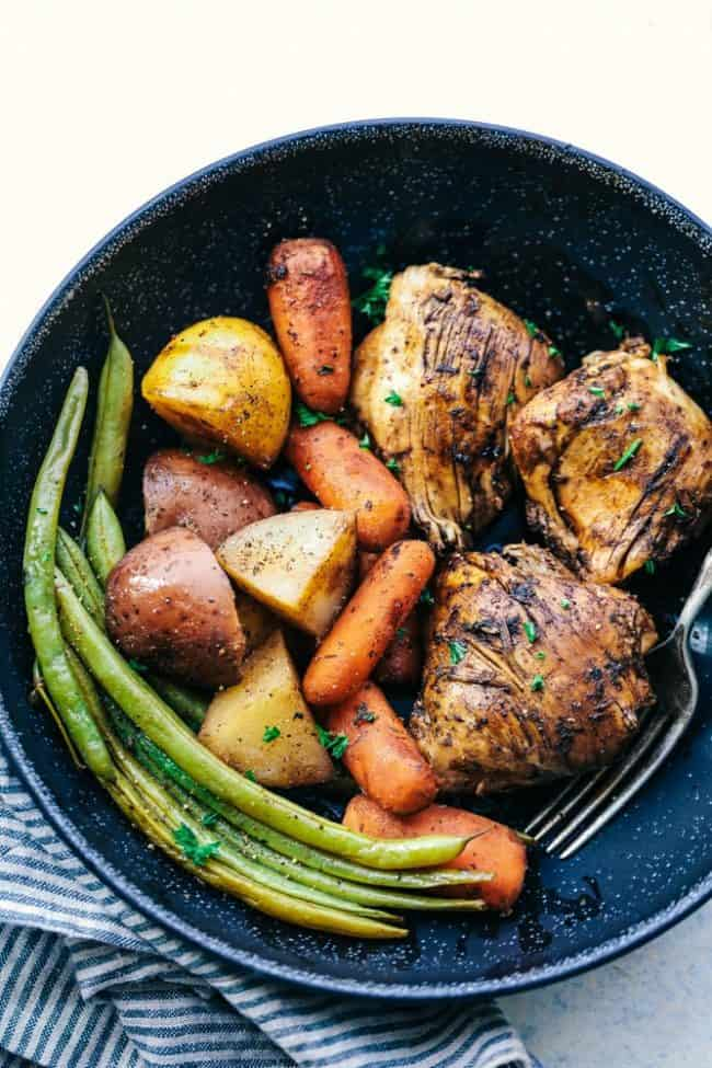 Slow Cooker Brown Sugar Balsamic Chicken and Veggies 4