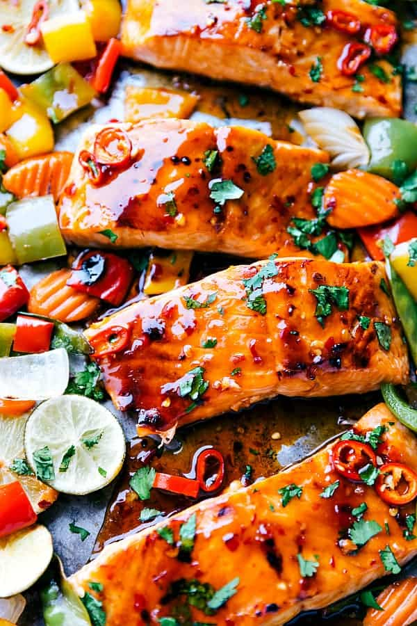 Sheet Pan Thai Glazed Salmon With Vegetables The Recipe Critic