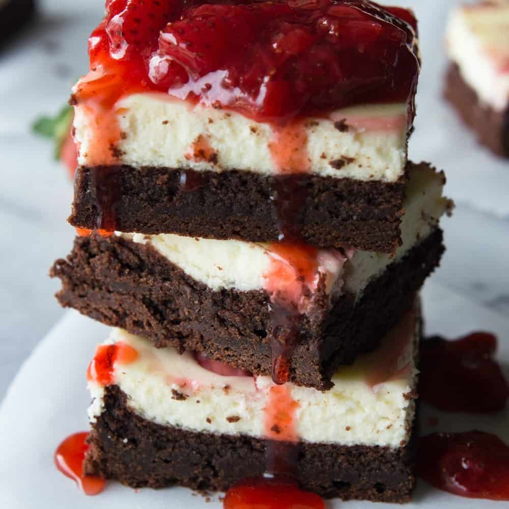 Strawberry Cheesecake Brownies The Recipe Critic