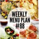 Weekly Menu Plan #88