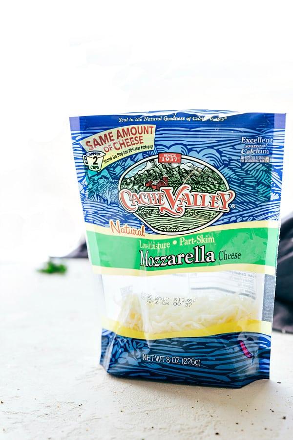 Mozzarella cheese bag.