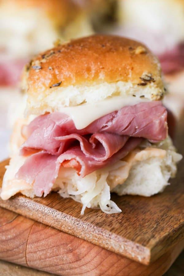 Reuben Sandwich Sliders